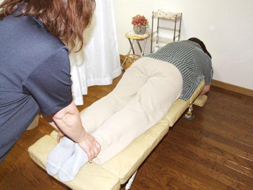 骨盤・下肢への施術   美容矯正・整体の施術の流れ